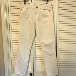 J Crew white ankle pants